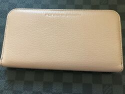 Brand NEW Genuine Porsche Design Coin Purse Wallet Deer Nude Leather very RARE