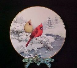 Lenox 2001 Four Seasons Cardinals Winter Collectible Bird Plate 10 1/2 With Tag