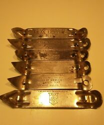 Beer Bottle Can Openers - 6 For Your Mancave - Fox Deluxe Yusay Meister Brau