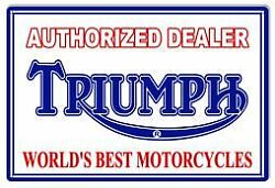 Vintage Style Metal Sign Triumph Motorcycle 18x30