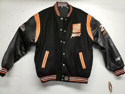 Autographed Jh Design Tony Stewart Home Depot Mens Xl Leather/wool Jacket New