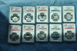 2014, Ngc, 10, O Canada Set, Pf70 Matte, Most Early/first Releases