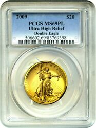 2009 Ultra High Relief $20 PCGS MS69 PL - Very Popular Issue