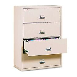 Fireproof Lateral File Cabinet, 4 Drawers, 52.75n H x 37.5in W x 22.13in D, Mad