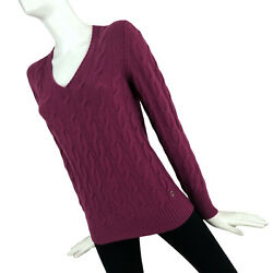 2000 Loro Piana Ladies Baby Cashmere Cable Knit Jumper Sweater Pullover 42 S
