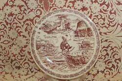 Vernon Kilns Plate Wyoming State Yellowstone Deviland039s Tower Home On The Range