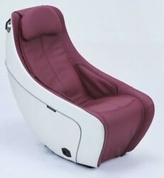 New Synca Sl Track Heat Therapy Burgundy Compact Massage Chair