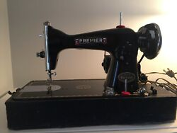 Antique Precision De Luxe Sewing Machine With Case