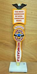 Newcastle New Castle Brown Ale Beer Tap Handle And 4 Toppers Eagle Loved New And F/s