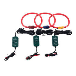 Extech Pq34-30 3000a Current Flexible Clamp Probes Set Of 3 Clamps