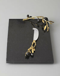 Golden Olive Branch Cheese Board And Knife This Is A Fashion Item To Stand Out