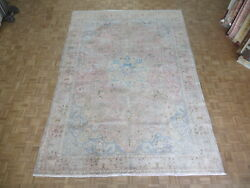 9and0393 X 13and0394 Hand Knotted Salmon Pink Turkish Oushak Ushak Oriental Rug Wool G6324