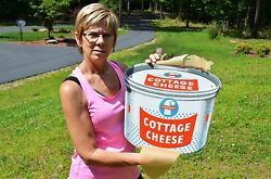 Vintage Foremost Cottage Cheese Embossed Dairy Sign Dead Mint Investment Pcandnbsp