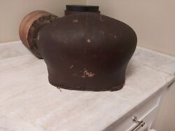 Rare Vintage Antique Leather Over Wood Hat Mold Millinery Block Display