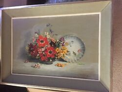 Laurence Biddle British 1888-1968 Flowers In A Bowl Listed Artist