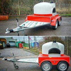 Side oven entrance design  MOBILE WOOD FIRED PIZZA OVEN * FORNO TRAILER