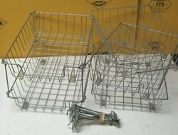 Lot Of Six 6 Vintage Wire Desktop Filing Organizing In/out Baskets W/stackers