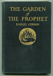 The Garden of the Prophet by Kahlil Gibran 1933 First Edition spirituality