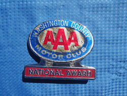 Aaa Washington County Pa National Award Trunk Emblem License Plate Topper Plaque