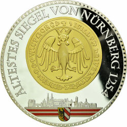 [710115] Germany Medal Nuremberg 2012 Ms65-70 Copper Plated Silver
