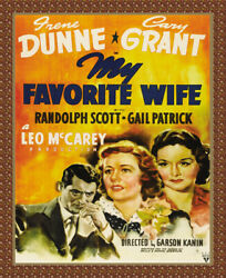 8616.decoration Movie Poster.home Room Wall Art Design.my Favorite Wife.decor