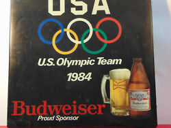 Vintage Us Olympic Team Light Up Wall Hanging Budweiser Sign 18x4x18