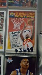 Rare 1992-93 Rookie Stacey Augmon 68 The 6000000th Point Man In Brand New Gr