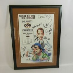 The Odd Couple Signed Broadway Poster Framed Nathan Lane Matthew Broderick Dand039abo