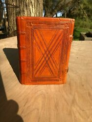 Leather Bible Completely Hand Bound 15th-16th Stlye Thompsons Chain Ref