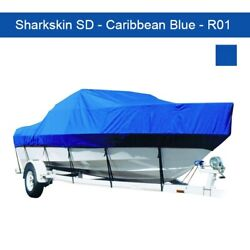 Off Shore Day Cruiser 20and0396-21and0395 Sharkskin Sd Boat Cover - Caribbean Blue