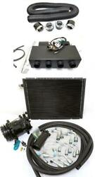 Universal Underdash Ac Air Conditioning Heat Cool Evaporator Kit W/ Hoses Vents