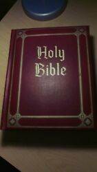 King James Family Holy Bible Guiding Light Ed. Vintage 1965 Red Letter