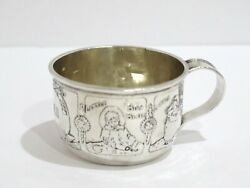 1 7/8 In - Sterling Silver The Mcchesney Co. Antique Nursery Rhymes Baby Cup