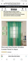 3. Window Sets Great Condition Mermaid Curtains Bed Bath And Beyond