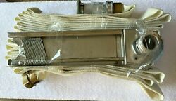 Fire Rack And 50' Linen Hose W/ Powhatan Fire Hose Nozzle Great Cond. 250 Psi