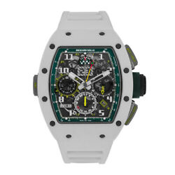 Richard Mille Le Mans Classic 50MM Flyback Chronograph Dual Time Zone White Cera