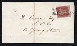 QV penny red sg C8 pl ? (RA)  cancelled by very fine Scots local pmk Duke Street