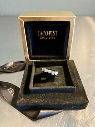 Iacopini Designer 18kt Ring 18 Carat White Gold Made In Italy Heart Band
