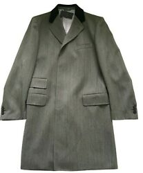 Paul Smith British Collection Long Epsom Coat 100 Wool Size 40 50