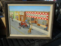 1990 L E Smith Painting Town Main Street Ralston Purina Feeds Ford Chevy Pickup