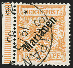 Momen German Colonies Mariana 15a 48 Degrees Used Cert 2750