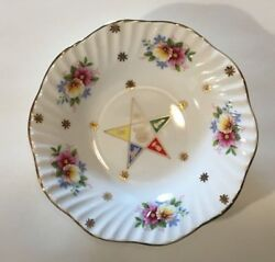 Antique Masonic Mason Order Of The Eastern Star Oes Fatal Star Porcelain Plate