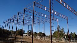 Metal Strong Solid  Frame building  Hay storage  barn or Warehoiuse 80'x30'x25