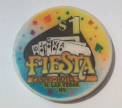 Fiesta Casino Las Vegas Nevada 1.00 Spade Logo Chip Great For Any Collection