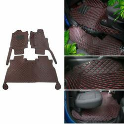 Waterproof Pu Leather Truck Floor Foot Mats Liner Carpet Pads For Ford F150 2015