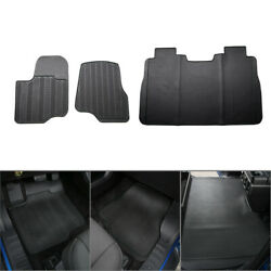 Black Rubber All Weather Floor Foot Mat Fit Ford Raptor F150 2015 2016 2017 3pcs