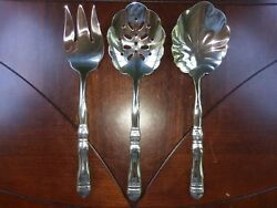 Southern Living At Home Gallery Hostess 3 Pc Serve Set Flatware Stainless Steel