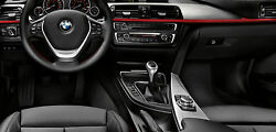 Bmw Oem F32 F33 4 Series Coupe Conv. Brushed Aluminum With Red Interior Trim Kit