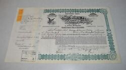 1890's Hamms Hamm Beer Preferred Stock Certificate Signed And Issued 53