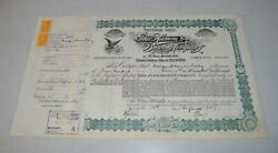 1890and039s Hamms Hamm Beer Preferred Stock Certificate Signed And Issued 53